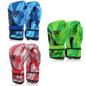 Kids Boxing Gloves Red, Green, Blue
